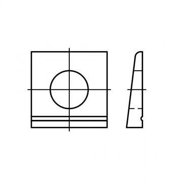 DIN 435 Шайба 22 косая квадратная, сталь нержавеющая А2