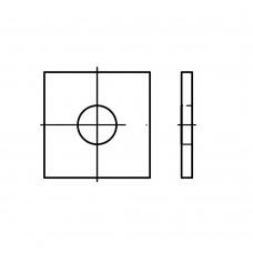 DIN 436 Шайба 17,5 квадратная, сталь нержавеющая А2