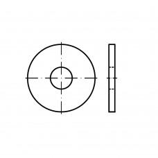 DIN 440 Шайба 11 плоская, увеличенная, круглое отверстие, сталь нержавеющая А4