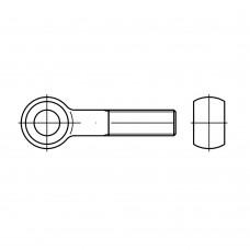 DIN 444 Болт М20* 90 откидной высокопрочный с ушком, сталь нержавеющая А2