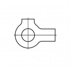 DIN 463 Шайба 17 стопорная плоская с 2 лапками, латунь