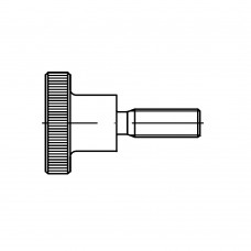 DIN 464 Винт 4* 16 с накатанной головкой, латунь
