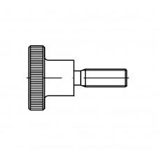 DIN 464 Винт 4* 20 с накатанной головкой, латунь