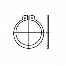 DIN 471 Кольцо 19 стопорное, наружное для вала, сталь