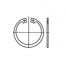 DIN 472 Кольцо 32 стопорное, сталь нержавеющая 1.4122