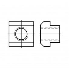 DIN 508 Гайка 20х22 для Т-образных пазов, сталь