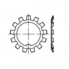 DIN 5406 Шайба 25 многолапчатая, сталь