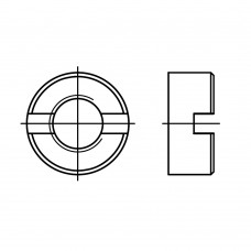 DIN 546 Гайка М3 круглая шлицевая, сталь