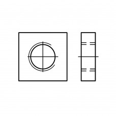 DIN 562 Гайка М10 квадратныя низкая, сталь