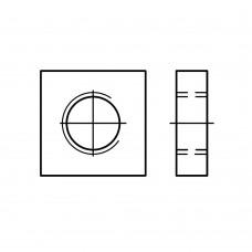 DIN 562 Гайка М8 квадратныя низкая, сталь, цинк
