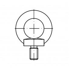 DIN 580 Рым-болт М6 кованый высокопрочный, сталь нержавеющая А2