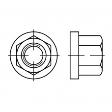 DIN 6331 Гайка 10 шестигранная, высокая, сталь нержавеющая А4