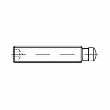 DIN 6332 Шпилька 16* 100 стопорная, сталь 5.8