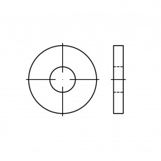 DIN 6340 Шайба 10,5 плоская, усиленная, сталь