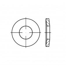 DIN 6796 Шайба 5 зажимная, пружинная, тарельчатая, сталь нержавеющая 1.4310