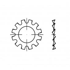 DIN 6797 Шайба 17 стопорная, с внешними зубцами, сталь нержавеющая 1.4310