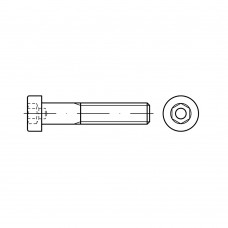 DIN 6912 Винт М4* 30 с цилиндрической головкой и внутренним шестигранником, сталь нержавеющая А2
