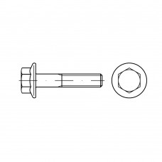 DIN 6921 Болт М6* 25 с шестигранной, головкой и фланцем, сталь нержавеющая А2