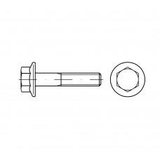 DIN 6921 Болт М6* 30 с шестигранной, головкой и фланцем, сталь нержавеющая А2