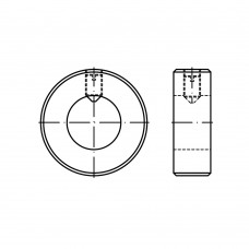 DIN 705 Кольцо 18 установочное с гнездом, форма А, сталь нержавеющая А1