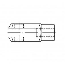 DIN 71752 Шарнир 6* 12 вильчатый, сталь, цинк