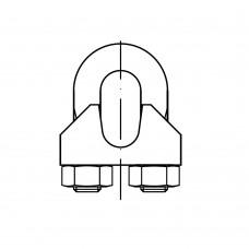 DIN 741 Зажим 8 для троса, сталь нержавеющая А2