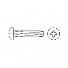 DIN 7516 Винт 3* 10 самонарезающий полукруг крестообразный шлиц РН, сталь, цинк