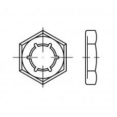 DIN 7967 Гайка 10 стопорная, сталь нержавеющая 1.4310
