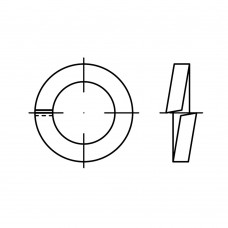 DIN 7980 Шайба 8 пружинная, сталь нержавеющая А4