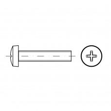 DIN 7985 Винт М2,5* 12 с полуцилиндрической головкой и крестообразным шлицем, сталь нержавеющая А4