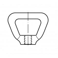 DIN 80704 Гайка 16 рычажковая самоконтрящая, латунь