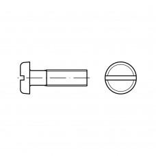 DIN 85 Винт М3* 4 с цилиндрической скругленной головкой, латунь