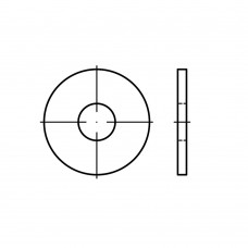 DIN 9021 Шайба 17 плоская, кузовная, увеличенная, латунь
