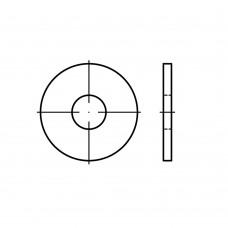DIN 9021 Шайба 5,3 плоская, кузовная, увеличенная, латунь