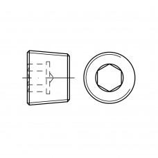 DIN 906 Пробка UNC 1/8 с резьбой, внутренний шестигранник, латунь