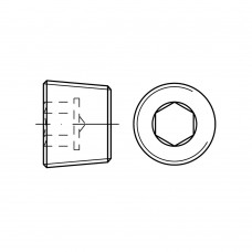 DIN 906 Пробка UNC 3/8 с резьбой, внутренний шестигранник, латунь