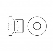 DIN 908 Пробка 38 резьбовая с фланцем, сталь