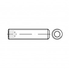 DIN 913 Винт М6* 16 установочный, внутренний шестигранник, плоский конец, сталь нержавеющая А4