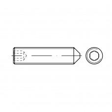 DIN 914 Винт М8* 10 установочный, внутренний шестигранник, острый конец, сталь нержавеющая А4