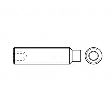 DIN 915 Винт М5* 30 установочный, внутренний шестигранник, с цапфой, сталь нержавеющая А1