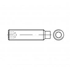 DIN 915 Винт М8* 35 установочный, внутренний шестигранник, с цапфой, сталь нержавеющая А1