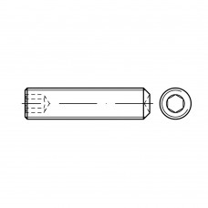 DIN 916 Винт М12* 20 установочный, внутренний шестигранник, с засверлен. концом, сталь А4