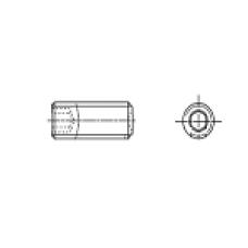 DIN 916 Винт М3* 4 установочный, внутренний шестигранник, засверленный конец, сталь, цинк