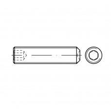 DIN 916 Винт М5* 16 установочный, внутренний шестигранник, с засверлен. концом, сталь нержавеющая А1
