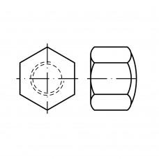 DIN 917 Гайка 6 колпачковая, низкая, латунь