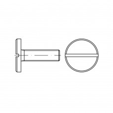 DIN 921 Винт 4* 10 с большой плоской головкой, сталь нержавеющая А1