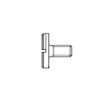 DIN 921 Винт 5* 12 с большой плоской головкой, сталь 4.8, цинк