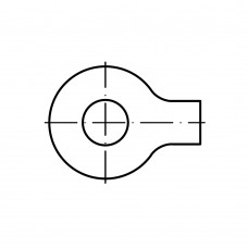 DIN 93 Шайба 10,5 стопорная с лапкой, сталь нержавеющая А4