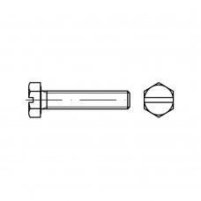 DIN 933 Болт М5* 12 высокопрочный прямой шлиц, сталь нержавеющая А2
