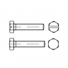 DIN 933 Болт М8* 70 с полной резьбой, сталь 8.8, цинк желтый A3C